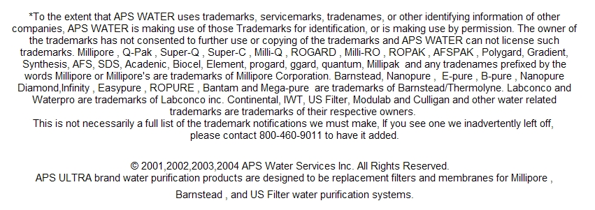 filters millipore sds water systems | barnstead-water.com