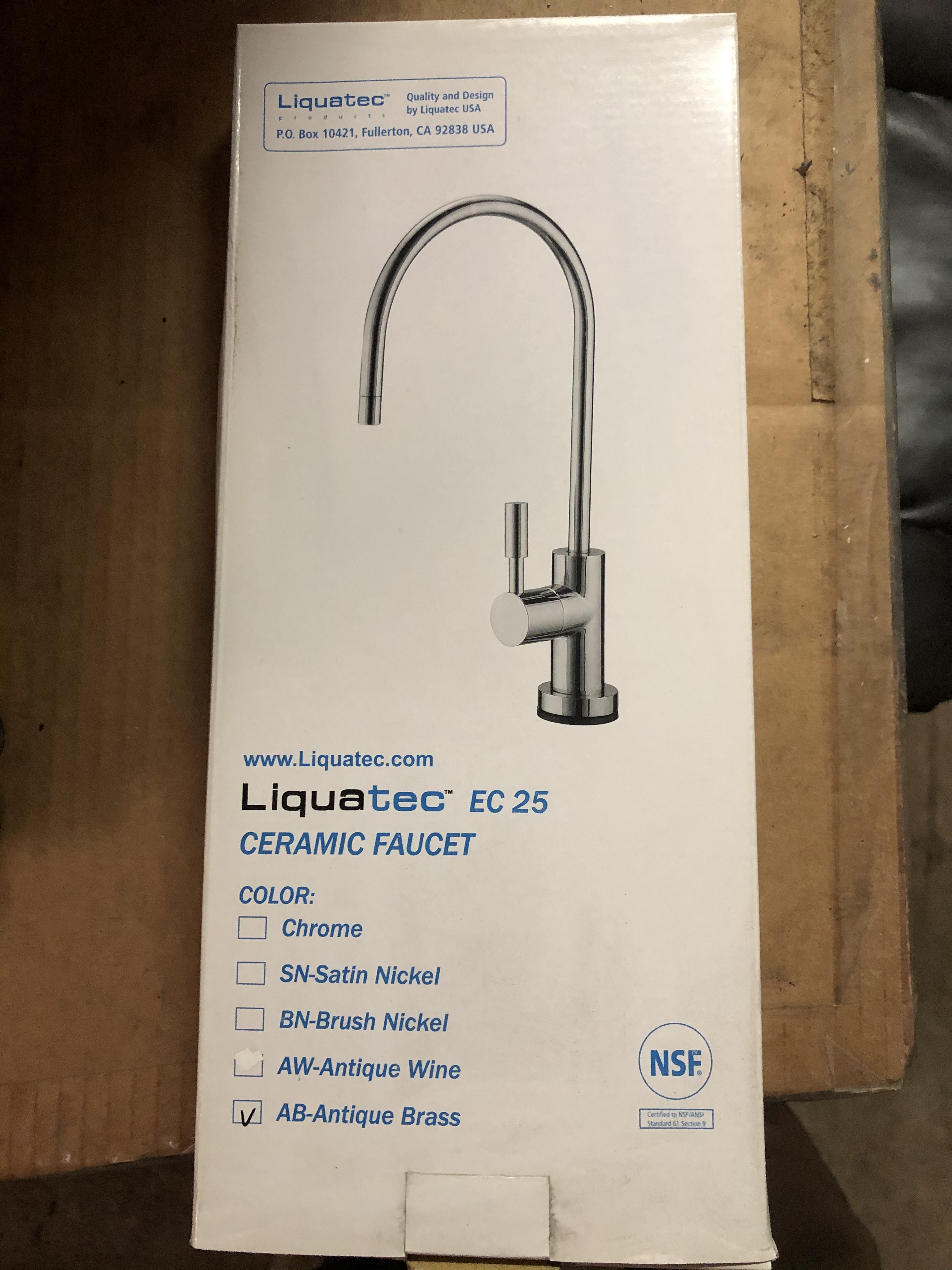 EC 25-NEW OLD STOCK  - Liquatec Ceramic Faucet